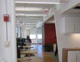 While the exposed ceiling look is popular in todays commercial office spaces, s