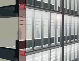 The new outer envelope of the A.J. Celebrezze Federal Building serves as a therm