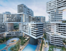 The Interlace is a 1,040-unit apartment complex consisting of 31 apartment block