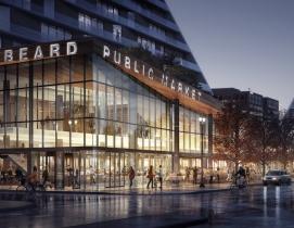 Snøhetta unveils designs for riverfront public market in Portland, Oregon