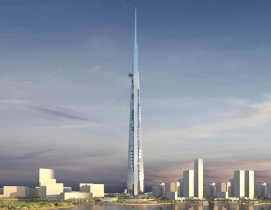 Kingdom Tower, set to become the worlds next-tallest building at 1,000 meters,