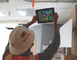 Augmented reality allows AEC professionals and facility managers to see behind w