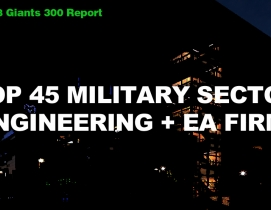Top 45 Military Sector Engineering + EA Firms [2018 Giants 300 Report]