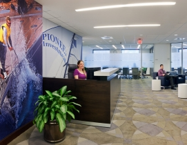 MPA redesigned workspaces, conference rooms, lobbies, reception areas and select