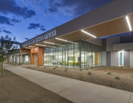 The exterior of the new Mountain Park Health Center clinic
