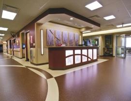 Central unit design minimizes noise from footsteps.