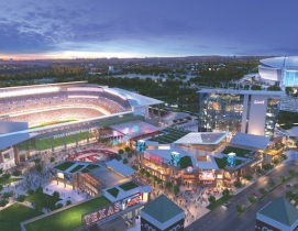 A rendering of the Texas Live! development