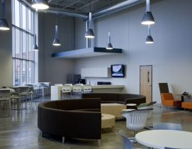 The Office Concepts build-out included approximately 15,000-sf of office and 15