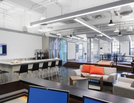 Montroy Andersen DeMarco recently completed a 35,000-sf fitout of Manhattan offi