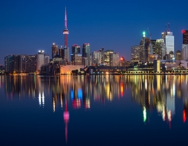 The Ontario skyline at night