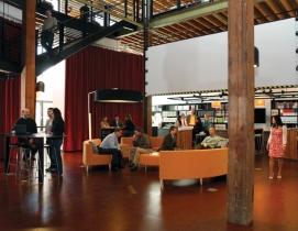 Gallery forum at the Rice Fergus Miller Office & Studio, Bremerton, Wash. The Bu
