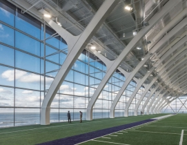 View from Wilson Field in Ryan Fieldhouse