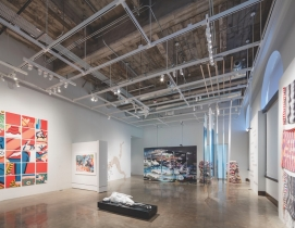 the first-floor Arts Commission Gallery