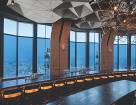 The 71Above restaurant in the U.S. Bank Tower in Los Angeles, which features SageGlass electrochromic glass.