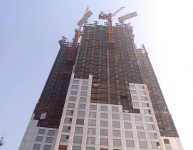 A 57-floor Chinese skyscraper was completed in 19 days