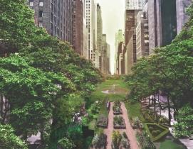 A Loop NYC pedestrian park