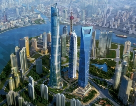 Shanghai Tower is on track to be completed by the end of 2015. Rendering courte