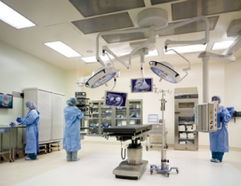 OR suite in the 465-bed Kaiser Permanente Los Angeles Medical Center. Phase 2 is
