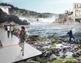 Snøhetta and DIALOG to revitalize Willamette Falls area in Oregon