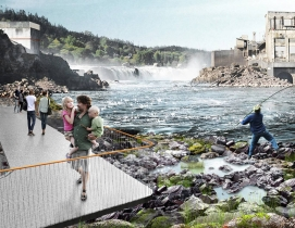 Snøhetta and DIALOG to revitalize Willamette Falls area in Oregon