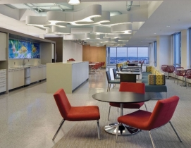 Communal space in a Boston office