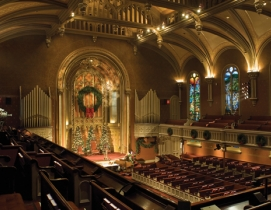 New Yorks Marble Collegiate Church, designed by Samuel A. Warner (completed 185