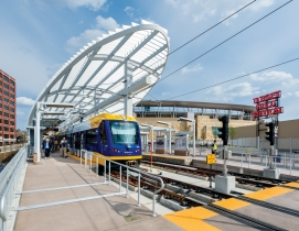 Minneapoliss Target Field Station opened last May 17. The $82.5 million hub is