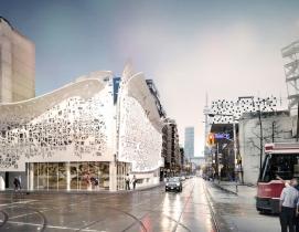 Design for new pavilion in Toronto includes a 'peel-away' façade, Ontario, Bortolotto Architects, OCAD