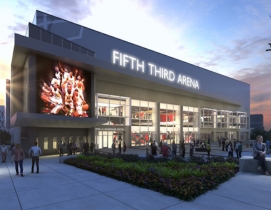 A rendering of Fifth Third Arena
