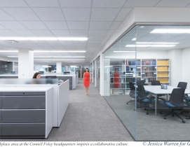 The workplace area at the Connell Foley headquarters