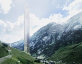 Morphosis unveils plans for controversial high-rise hotel in tiny Alpine village