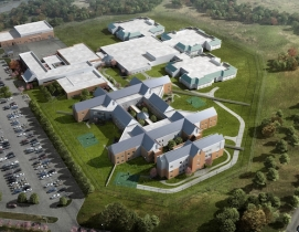 Aerial view of a behavioral health center