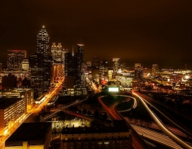 Atlanta at night