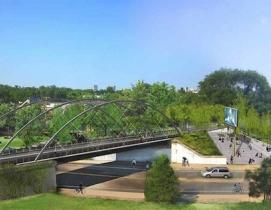 Proposed Milwaukee Avenue Bridge. Courtesy Michael Van Valkenburgh
