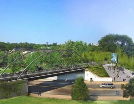 Proposed Milwaukee Avenue Bridge. Courtesy Michael Van Valkenburgh