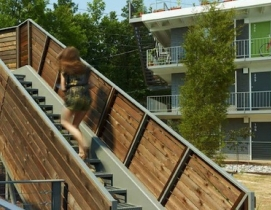 ECO Modern Flats is a wellness-oriented apartment complex in Fayetteville, Ark.,