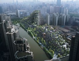 """Tree-covered mountains"" planned for urban Shanghai"