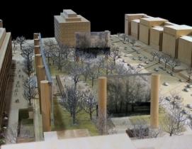 Frank Gehry's model for the Eisenhower Memorial.
