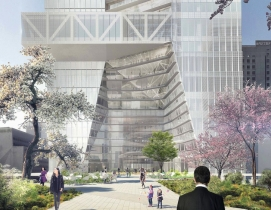 OMA reveals designs for its first Tokyo skyscraper