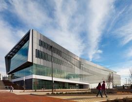 The new James B. Hunt Jr. Library at North Carolina State University, Raleigh, d