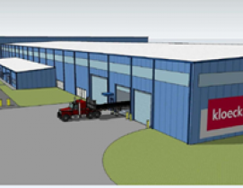 Final rendering of the new steel processing facility for Kloeckner Metals.