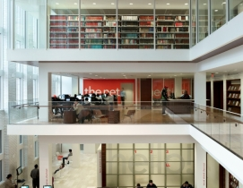 On the north side of St. Louiss Central Library, the Building Team created a fo