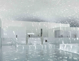 Light will shimmer through roof cutouts in Jean Nouvel's Louvre Abu Dhabi