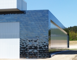 Metal roof and wall panels provide strong wind resistance