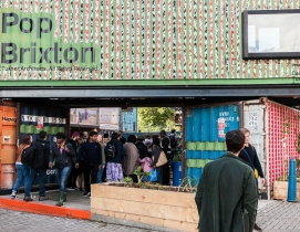 London opens business complex made from 50 shipping containers