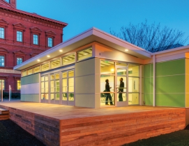 Sprout Space, a modular template designed by Perkins+Will, is a high-performance