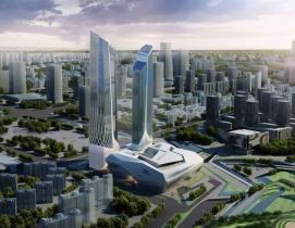 Foster + Partners' proposed design for the Wuhan resort. Renderings: courtesy Ju