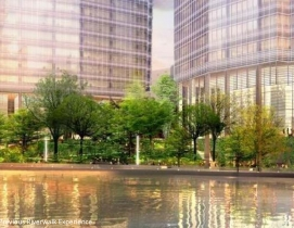 Designed by Pelli Clarke Pelli Architects, the 48-story luxury residential tower