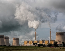 Power plant and smokestack