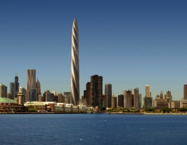 Construction work started on the Santiago Calatrava-designed Chicago Spire in 20